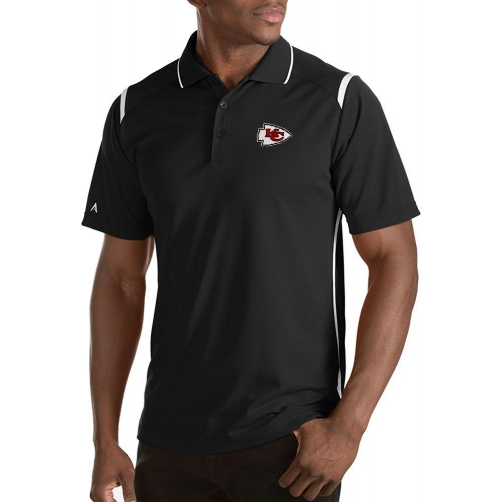アンティグア Antigua メンズ ポロシャツ トップス【Kansas City Chiefs Merit Black Xtra-Lite Polo】