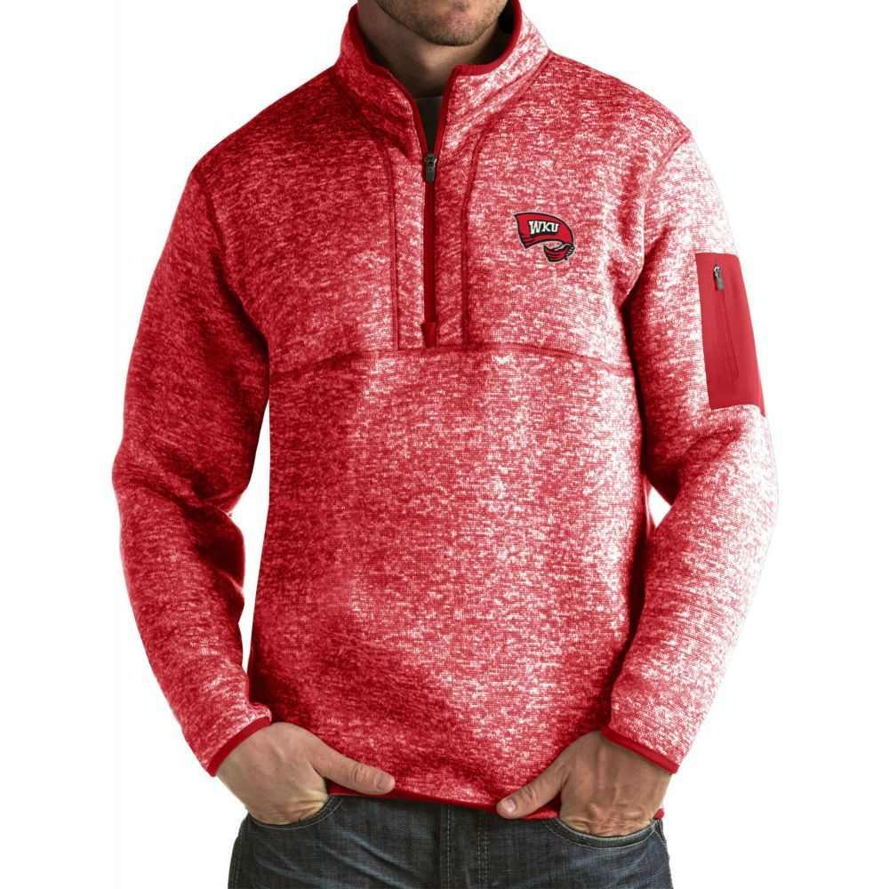 アンティグア Antigua メンズ ジャケット アウター【Western Kentucky Hilltoppers Red Fortune Pullover Jacket】