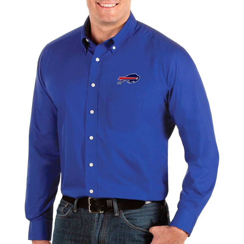 アンティグア Antigua メンズ シャツ トップス【Buffalo Bills Dynasty Button Down Royal Dress Shirt】