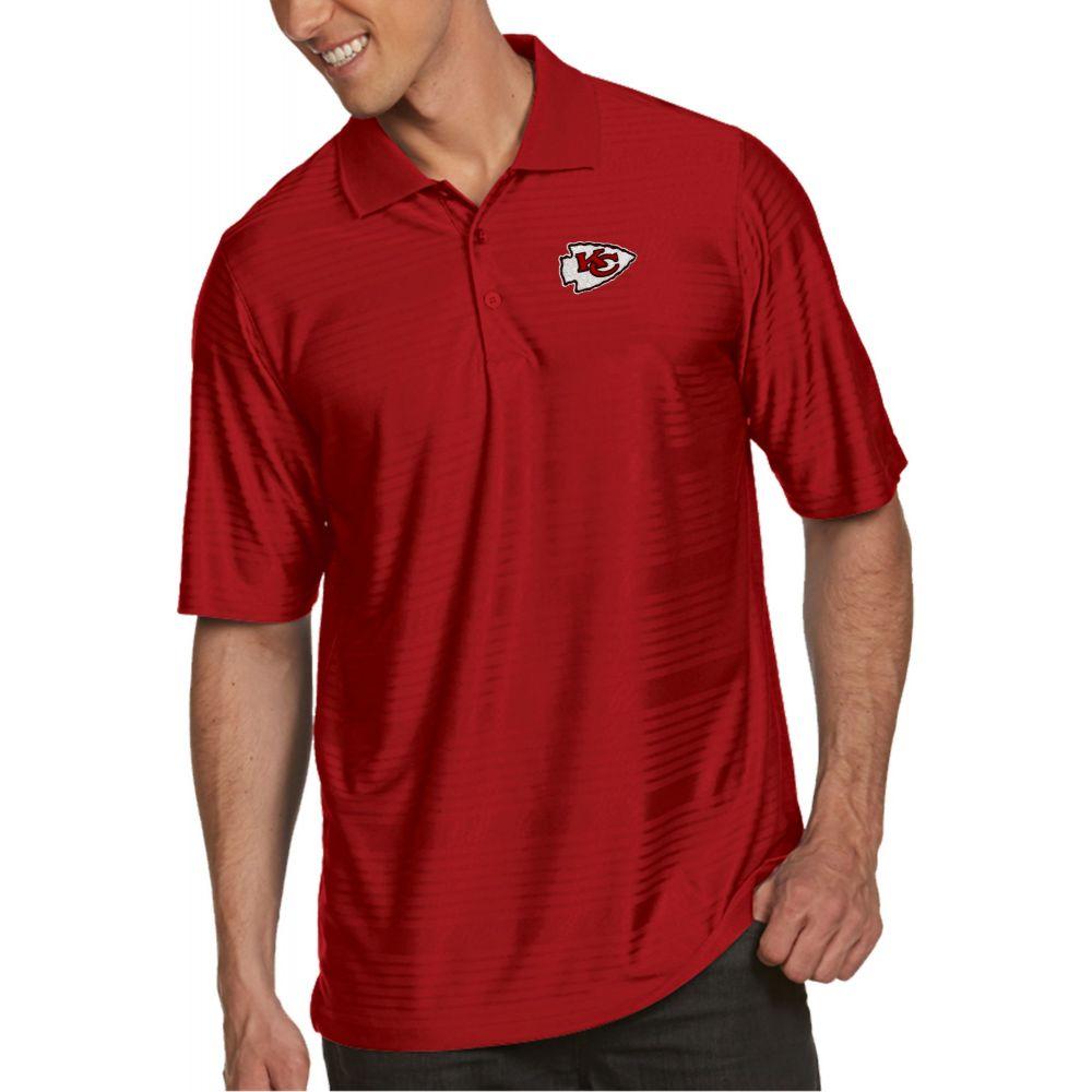 アンティグア Antigua メンズ ポロシャツ トップス【Kansas City Chiefs Illusion Red Xtra-Lite Polo】