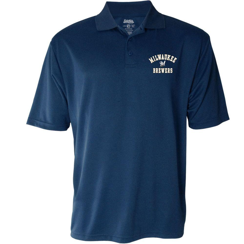 スティッチーズ Stitches メンズ ポロシャツ トップス【Milwaukee Brewers Polo】