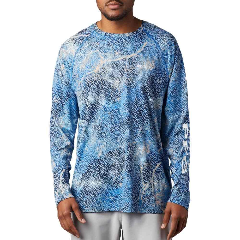 コロンビア Columbia メンズ トップス 【Super Terminal Tackle Long Sleeve Shirt】Vivid Blue Relatree Mako
