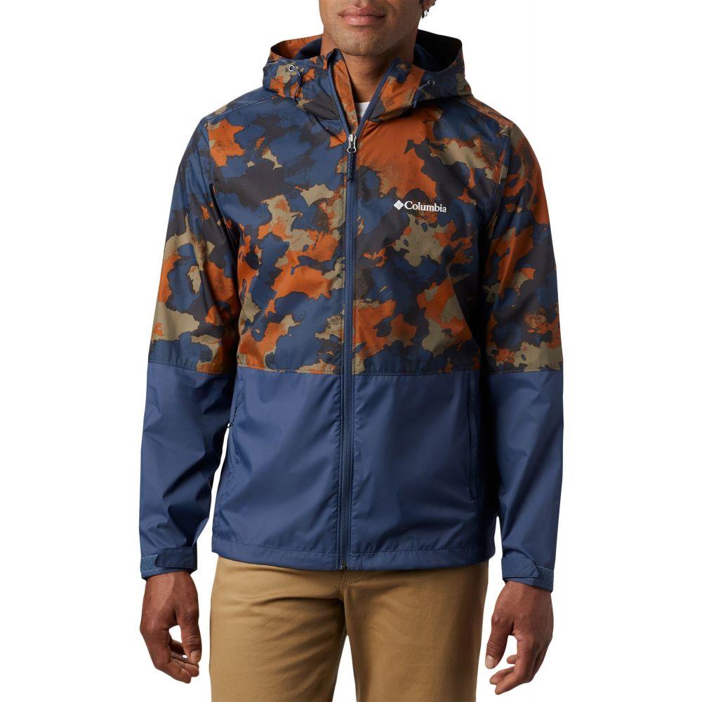 コロンビア Columbia メンズ レインコート マウンテンジャケット アウター【Roan Mountain Rain Jacket】DarkMountainCldyCldsDkMtn