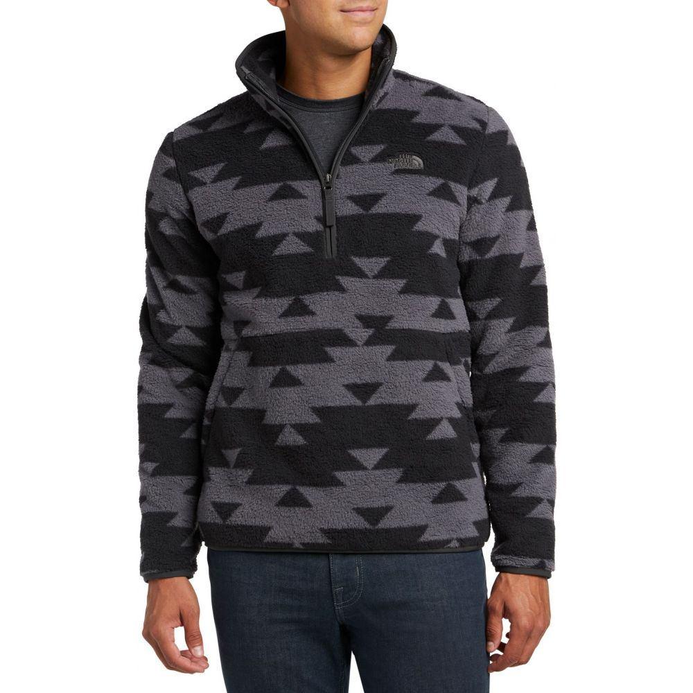 ザ ノースフェイス The North Face メンズ フリース トップス【Dunraven Novelty Sherpa 1/4 Zip Fleece Jacket】Asphalt Grey Print