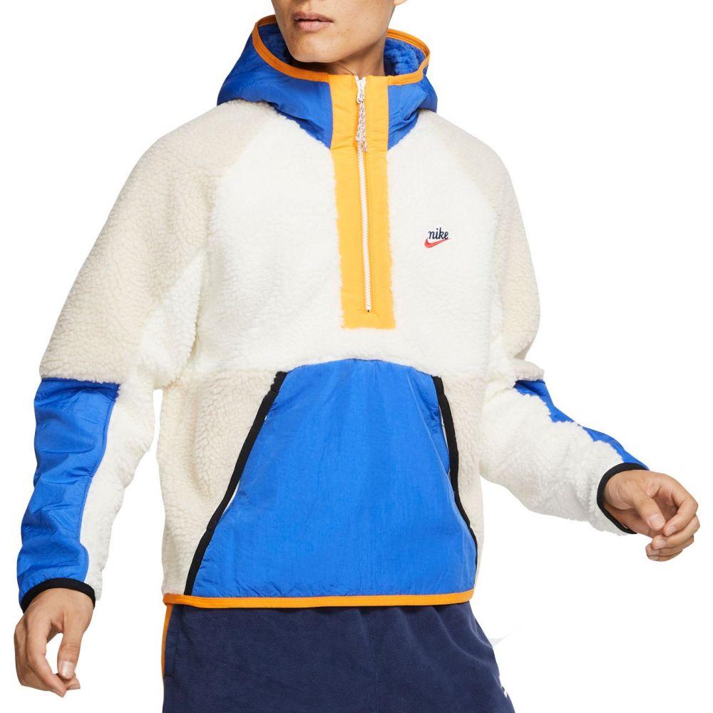 ナイキ Nike メンズ フリース ハーフジップ トップス【Sportswear 1/2 Zip Fleece Hoodie】Sail