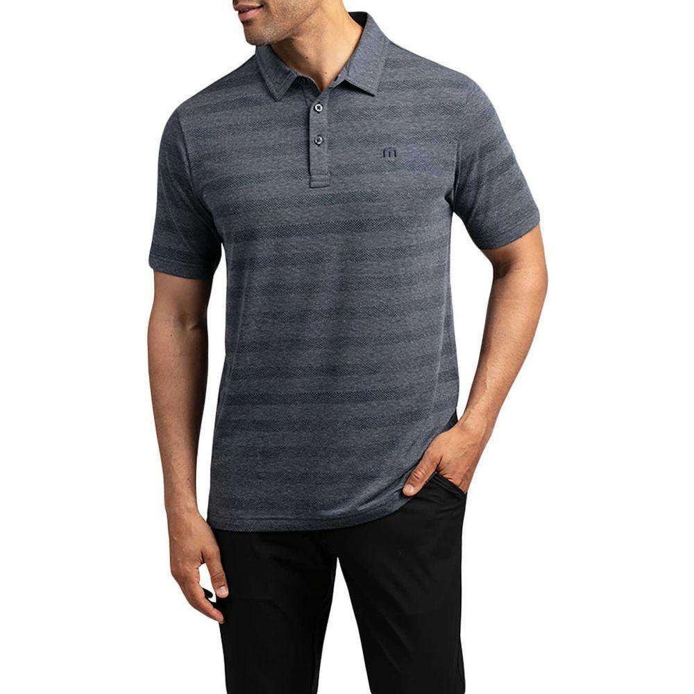 トラビスマシュー TravisMathew メンズ ポロシャツ トップス【Heater Polo Shirt】Vintage Indigo/Black