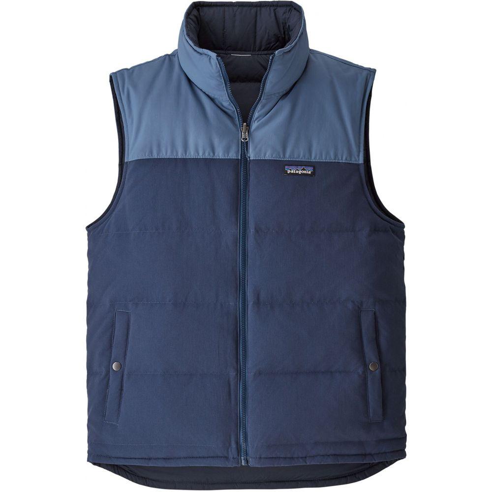 パタゴニア Patagonia メンズ ベスト・ジレ ダウンベスト トップス【Reversible Bivy Down Vest】Stone Blue/Woolly Blue