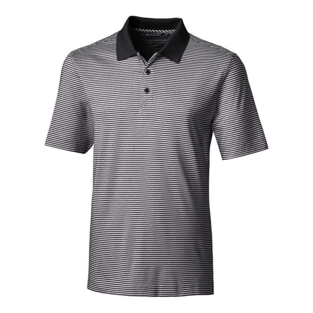 カッター&バック Cutter & Buck メンズ ゴルフ 大きいサイズ ポロシャツ トップス【Forge Tonal Stripe Golf Polo - Big & Tall】Black