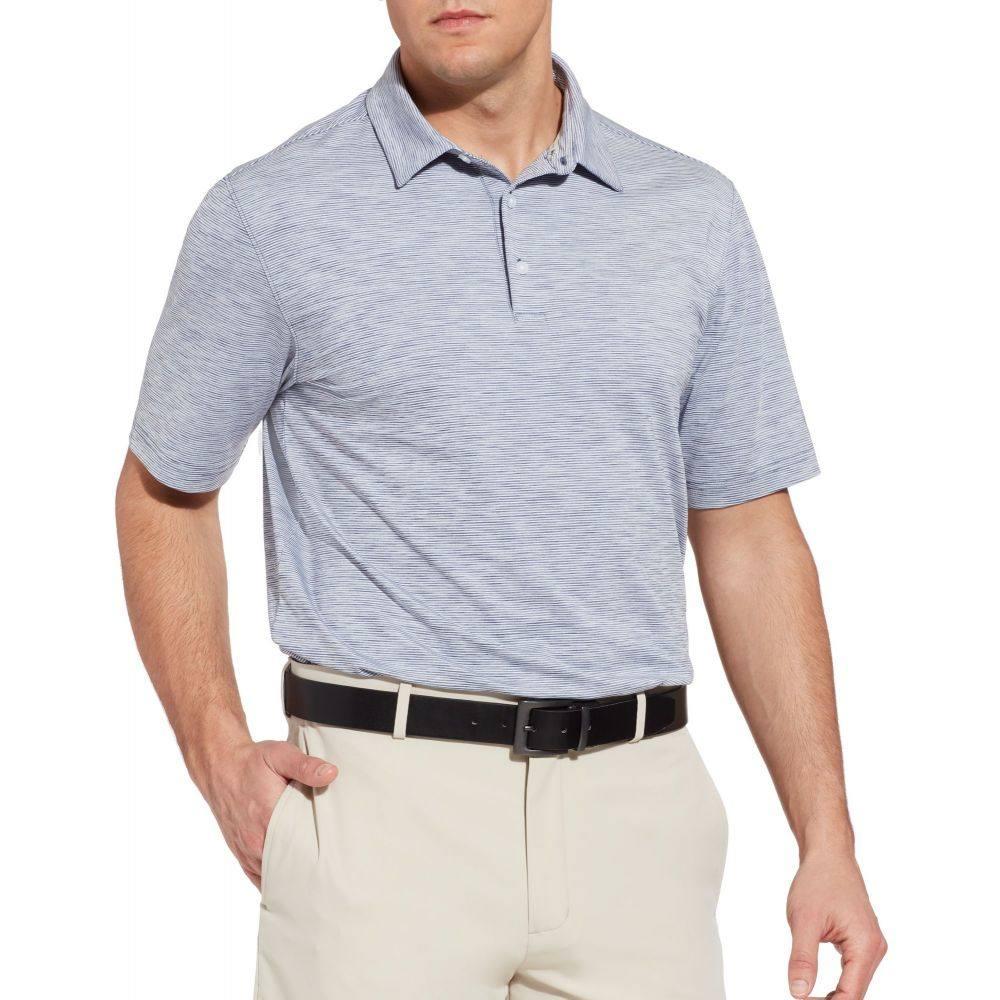ウォルターヘーゲン Walter Hagen メンズ ゴルフ 大きいサイズ ポロシャツ トップス【11 Majors Championship Stripe Golf Polo - Big & Tall】Navy