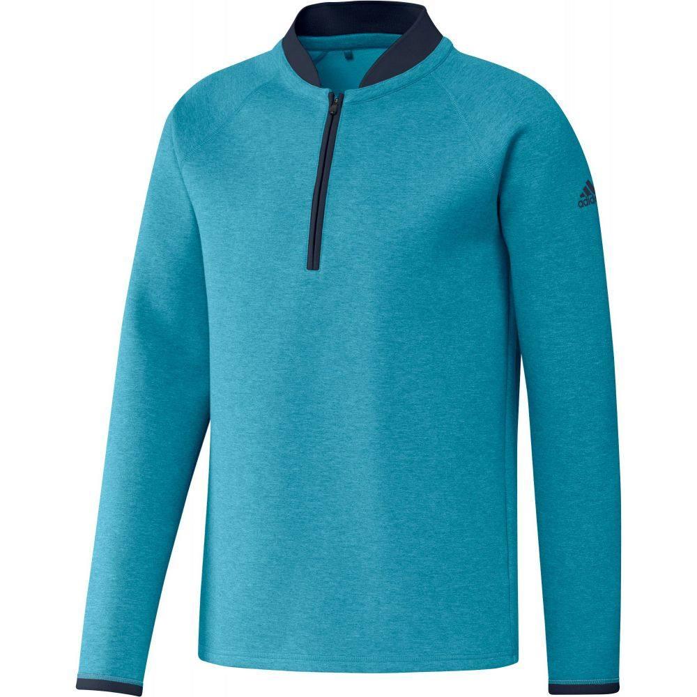 アディダス adidas メンズ ゴルフ トップス【Club 1/4 Zip Golf Pullover】Active Teal Melange