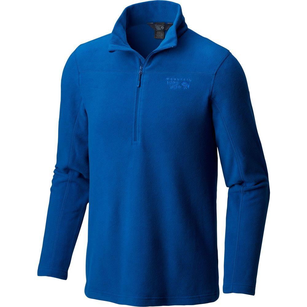 マウンテンハードウェア Mountain Hardwear メンズ フリース ハーフジップ トップス【Microchill 2.0 1/2 Zip Fleece Pullover】Nightfall Blue