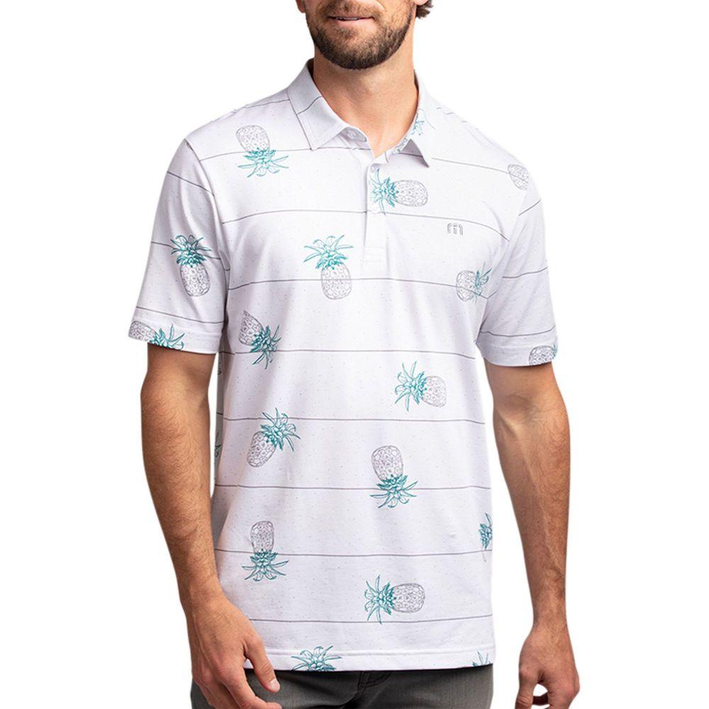 トラビスマシュー TravisMathew メンズ ゴルフ ポロシャツ トップス【Stacked Deck Golf Polo】White