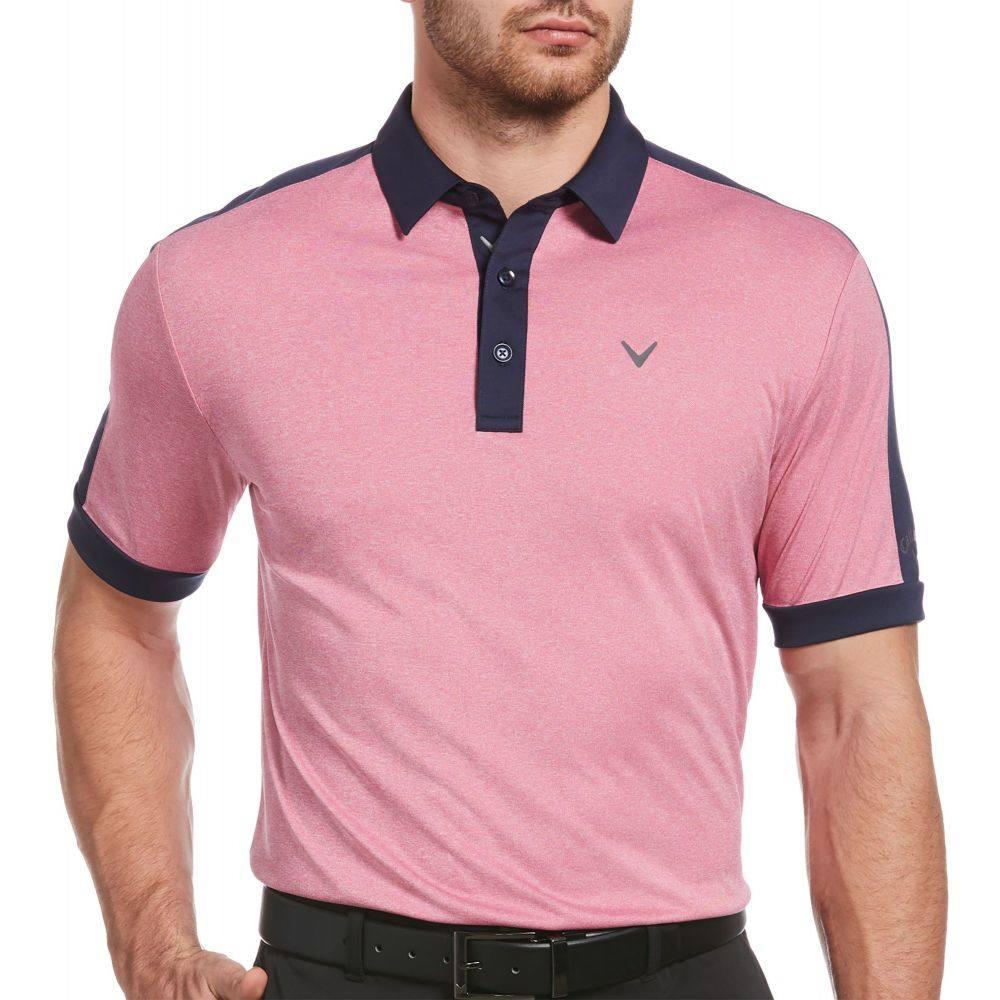 キャロウェイ Callaway メンズ ゴルフ 大きいサイズ ポロシャツ トップス【Birdseye Golf Polo - Big and Tall】Boudoir Red