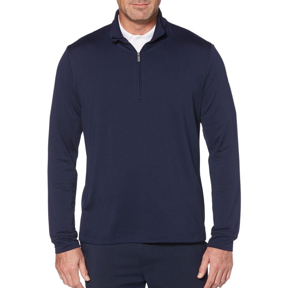 キャロウェイ Callaway メンズ ゴルフ トップス【Swing-Tech Cooling 1/4 Zip Golf Pullover】Peacoat