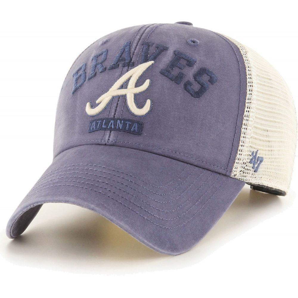 フォーティセブン 47 メンズ キャップ 帽子 Atlanta Braves Navy Brayman Snap MVP AdjTu1cFJK3l