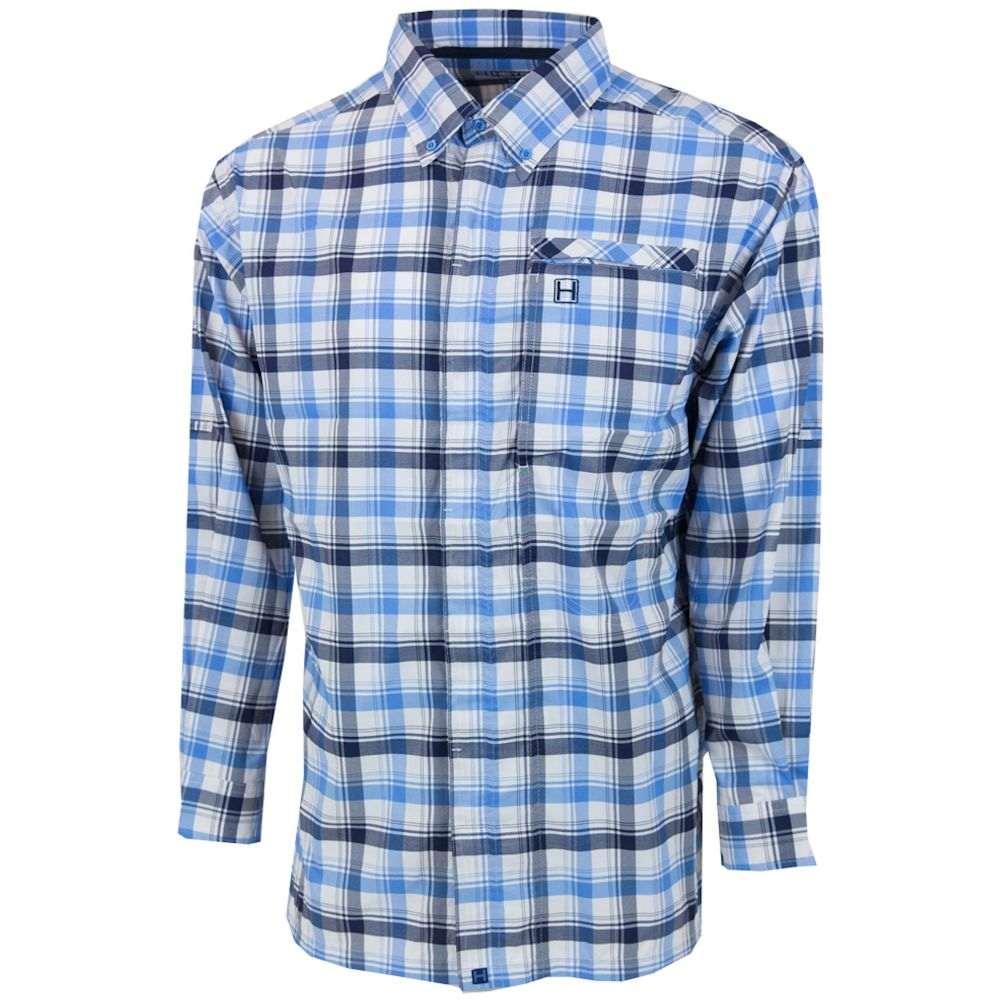 ヘイボー HEYBO メンズ シャツ トップス【Homestead Button Down Long Sleeve Shirt】Blue/White