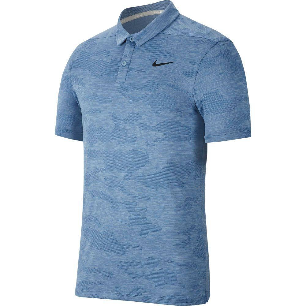 ナイキ Nike メンズ ゴルフ ポロシャツ トップス【Zonal Cooling Camo Golf Polo】Indigo Fog