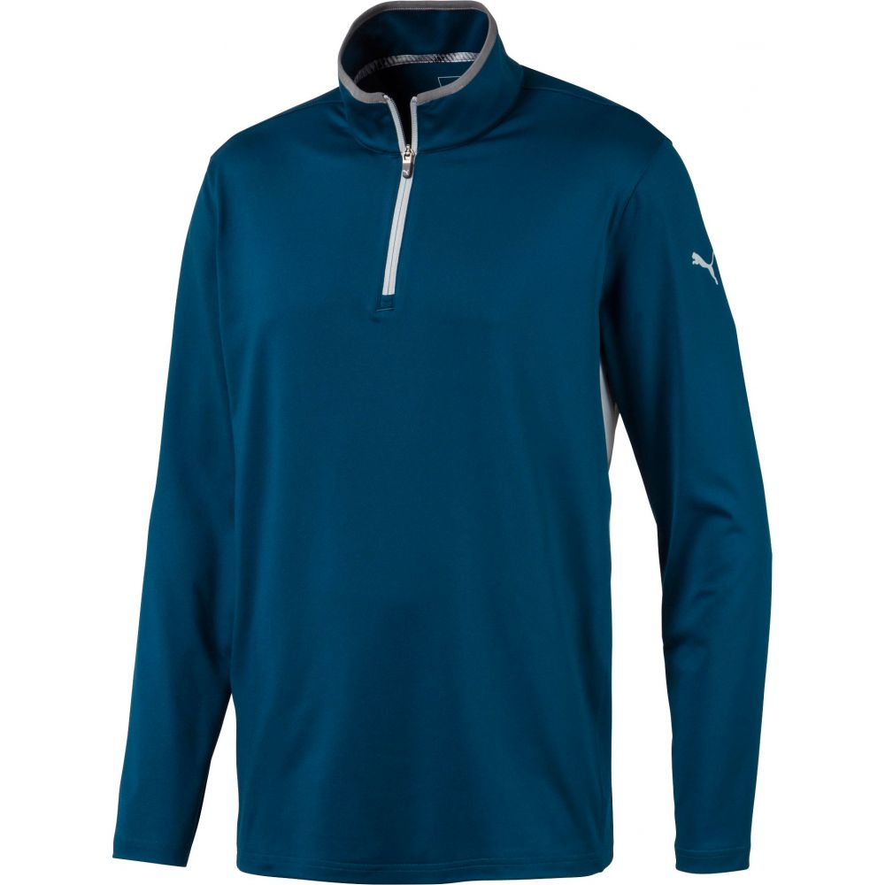 プーマ PUMA メンズ ゴルフ トップス【Rotation 1/4 Zip Golf Pullover】Gibraltar Sea