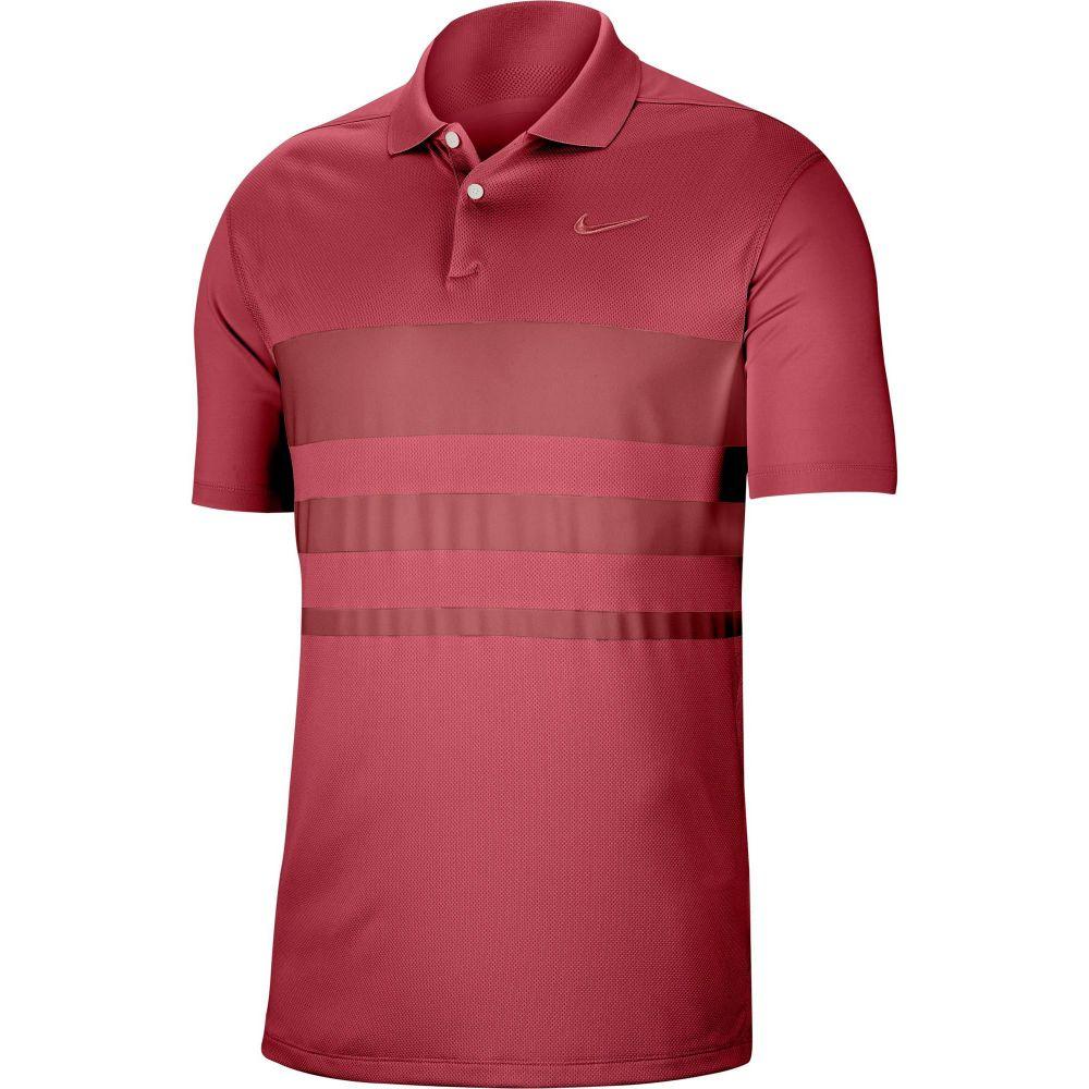 ナイキ Nike メンズ ゴルフ ドライフィット ポロシャツ トップス【Dri-FIT Vapor Striped Golf Polo】Sierra Red
