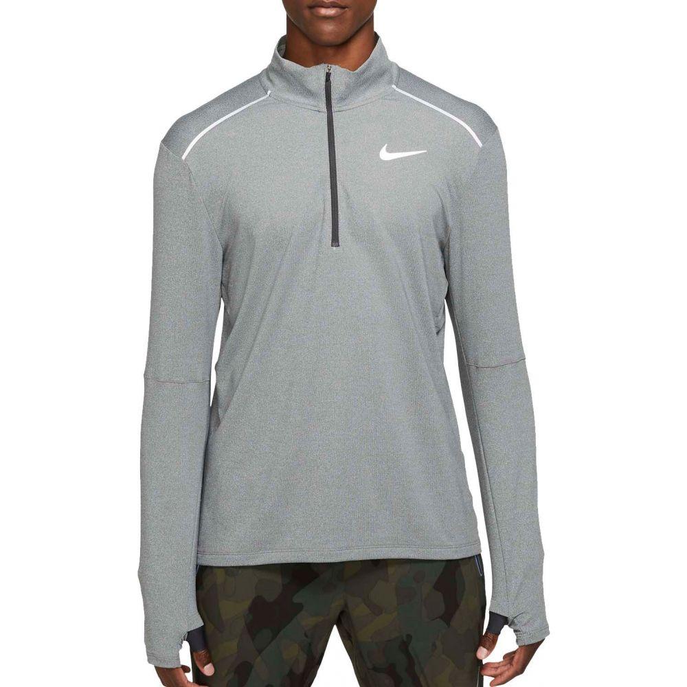 ナイキ Nike メンズ ランニング・ウォーキング ハーフジップ トップス【Element 1/2 Zip Mock Neck Running Long Sleeve Shirt 3.0】Dk Smke Gry/Rflctv Silv