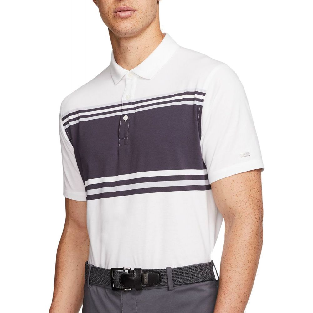 ナイキ Nike メンズ ゴルフ ドライフィット ポロシャツ トップス【Dri-FIT Player Striped Golf Polo】White