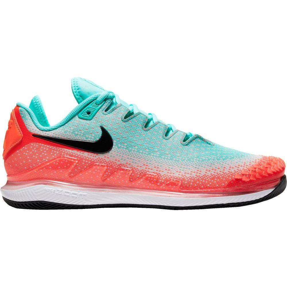 ナイキ Nike メンズ テニス エアズーム シューズ・靴【Court Air Zoom Vapor X Knit Tennis Shoes】Aqua/Red