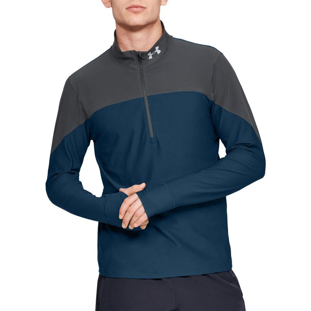 アンダーアーマー Under Armour メンズ ランニング・ウォーキング ハーフジップ トップス【Qualifier 1/2 Zip Running Long Sleeve Shirt (Regular and Big & Tall)】Teal Vibe/Pitch Gray/Refl