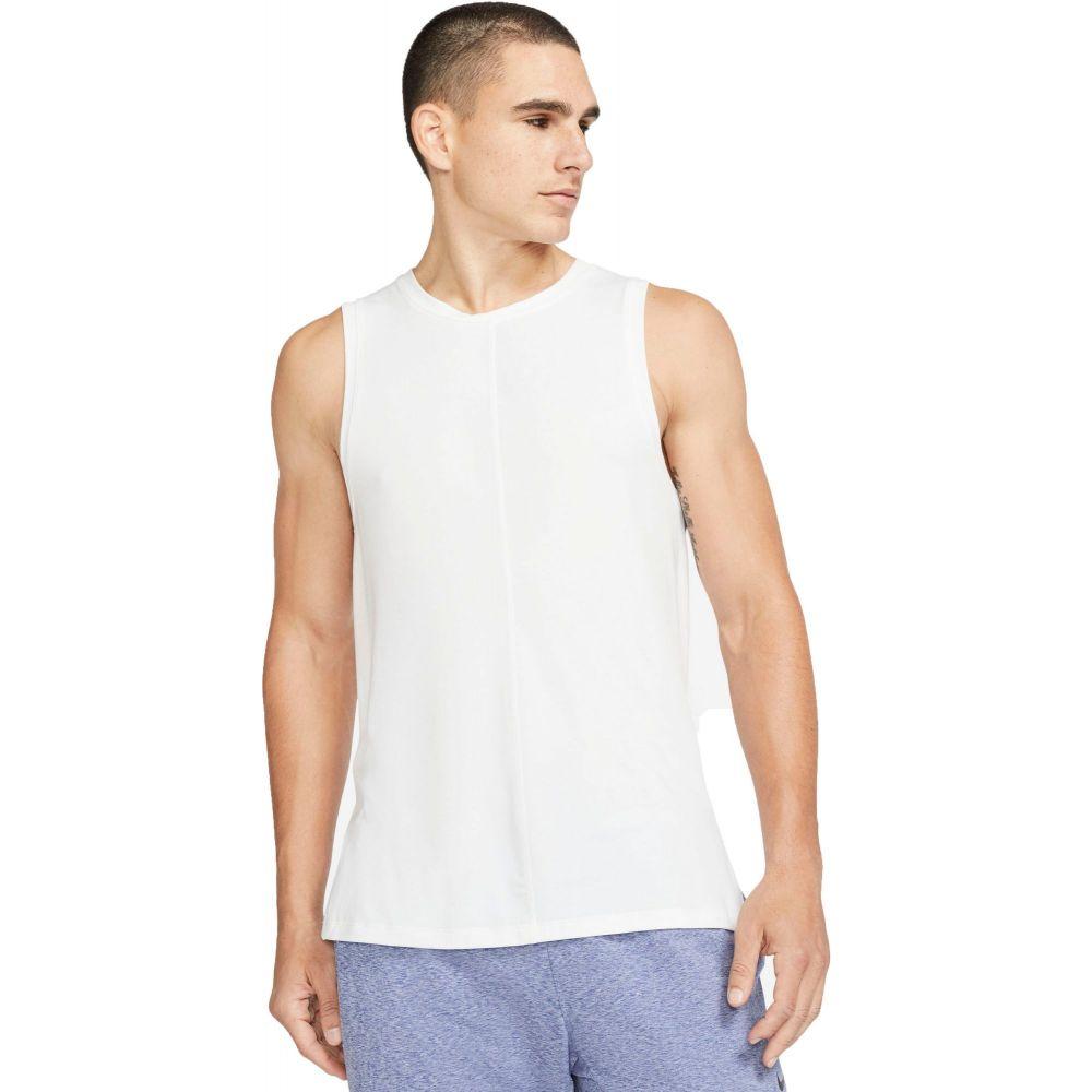 ナイキ Nike メンズ ヨガ・ピラティス タンクトップ トップス【Yoga Tank Top】White/Black