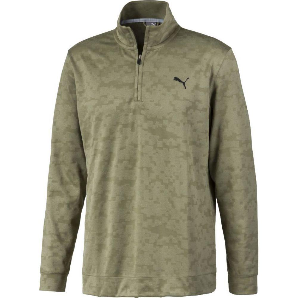 プーマ PUMA メンズ ゴルフ トップス【Alterknit Camo 1/4 Zip Golf Pullover】Deep Lichen Green