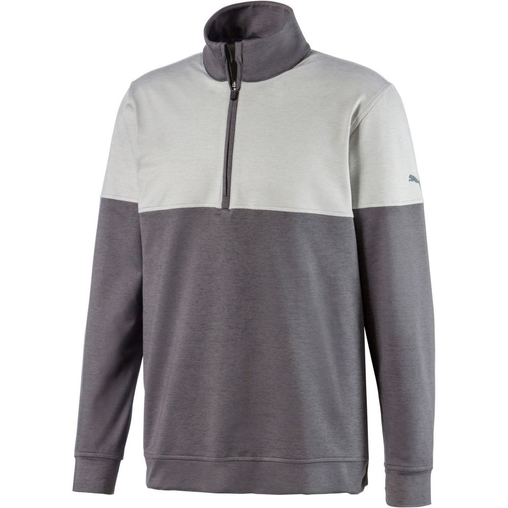 プーマ PUMA メンズ ゴルフ トップス【Warm Up 1/4 Zip Golf Pullover】Quiet Shade