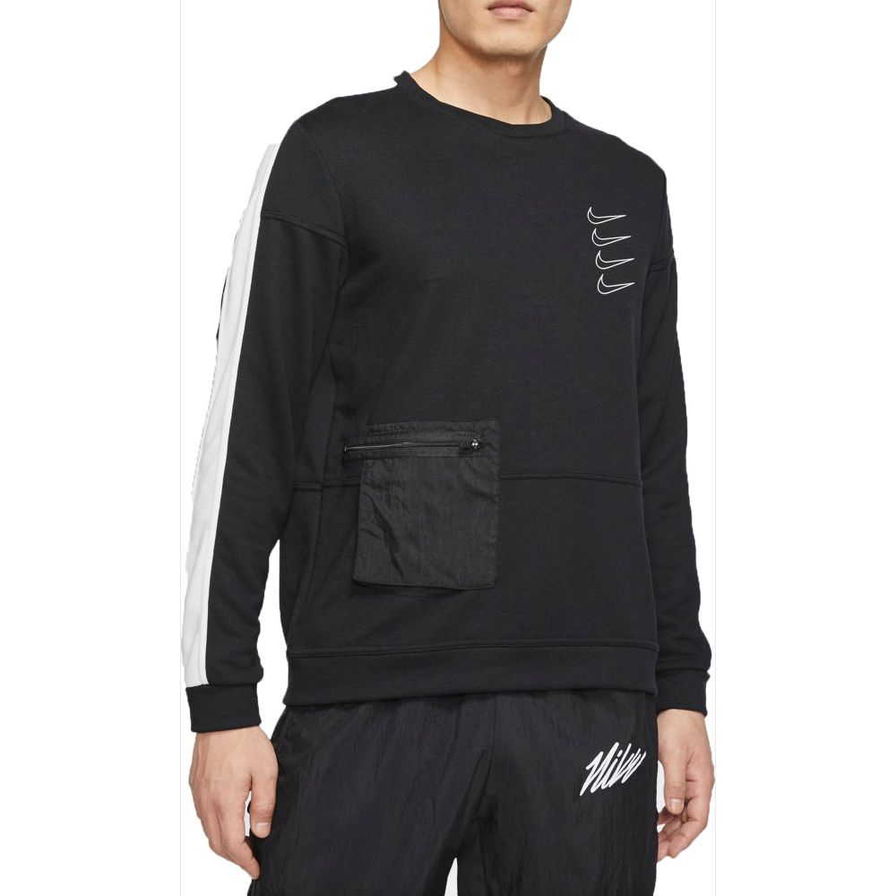 ナイキ Nike メンズ フィットネス・トレーニング ドライフィット トップス【Dri-FIT Fleece Training Top】Black/White/Black/White