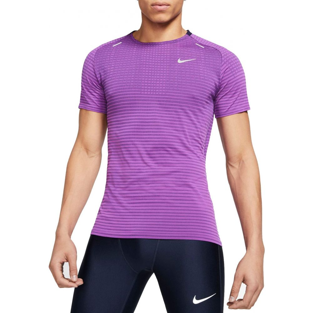 ナイキ Nike メンズ ランニング・ウォーキング トップス【TechKnit Short Sleeve Running T-Shirt】Vivid Purple