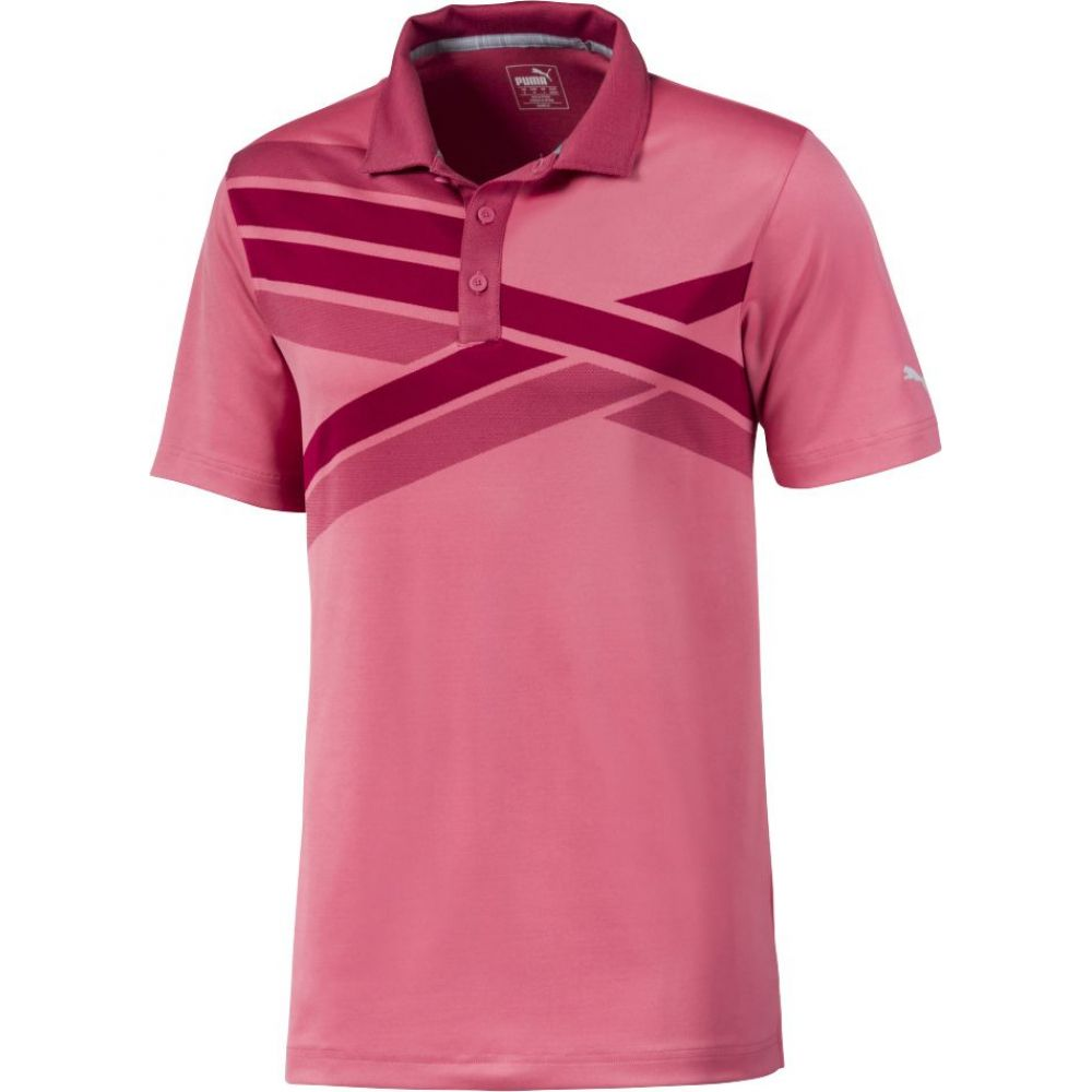 プーマ PUMA メンズ ゴルフ ポロシャツ トップス【Alterknit Texture Golf Polo】Rapture Rose