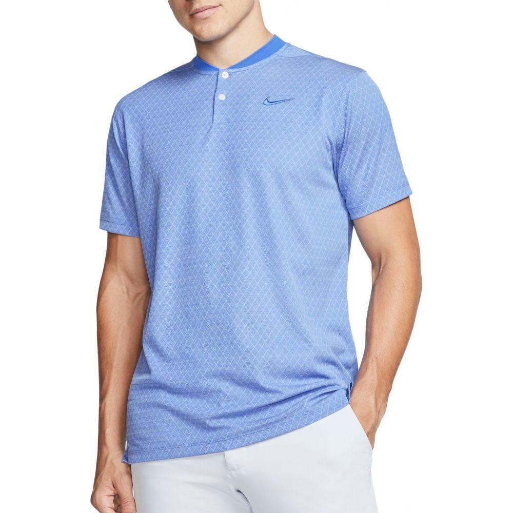 ナイキ Nike メンズ ゴルフ ドライフィット ポロシャツ トップス【Dri-FIT Vapor Blade Print Golf Polo】Pacific Blue