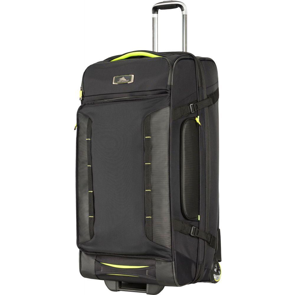 ハイシエラ High Sierra ユニセックス スーツケース・キャリーバッグ バッグ【AT8 32'' Wheeled Duffle Upright Bag】Black/Zest