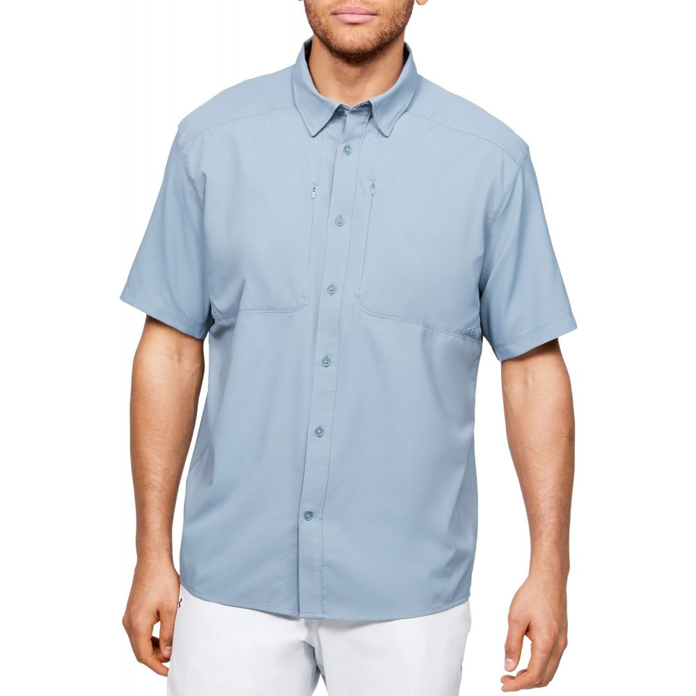 アンダーアーマー Under Armour メンズ 釣り・フィッシング トップス【Tide Chaser 2.0 Fishing Short Sleeve Shirt (Regular and Big & Tall)】Hushed Turquoise