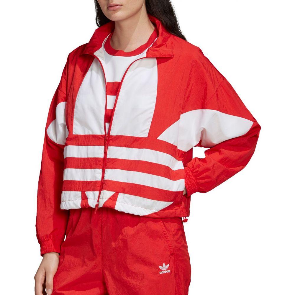 アディダス adidas レディース ジャージ アウター【Originals Large Logo Woven Track Jacket】Lush Red/White