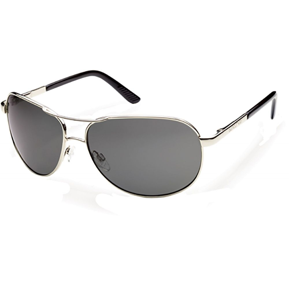サンクラウド SUNCLOUD OPTICS ユニセックス メガネ・サングラス アビエイター【Suncloud Optics Adult Aviator Polarized Sunglasses】Silver/Black