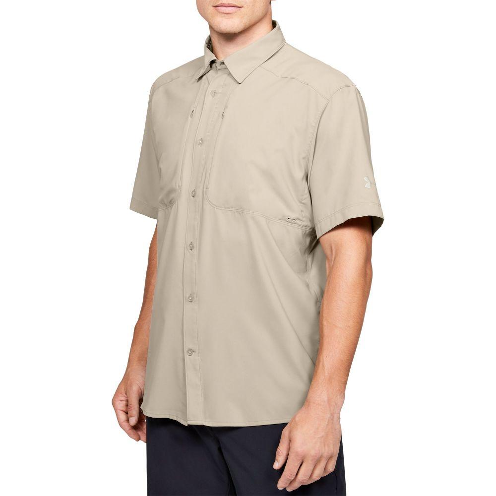 アンダーアーマー Under Armour メンズ 釣り・フィッシング トップス【Tide Chaser 2.0 Fishing Short Sleeve Shirt (Regular and Big & Tall)】City Khaki