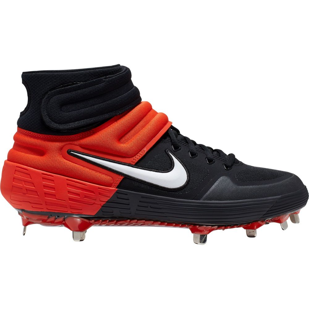 ナイキ Nike メンズ 野球 シューズ・靴【Alpha Huarache Elite 2 Mid Metal Baseball Cleats】Black/Orange