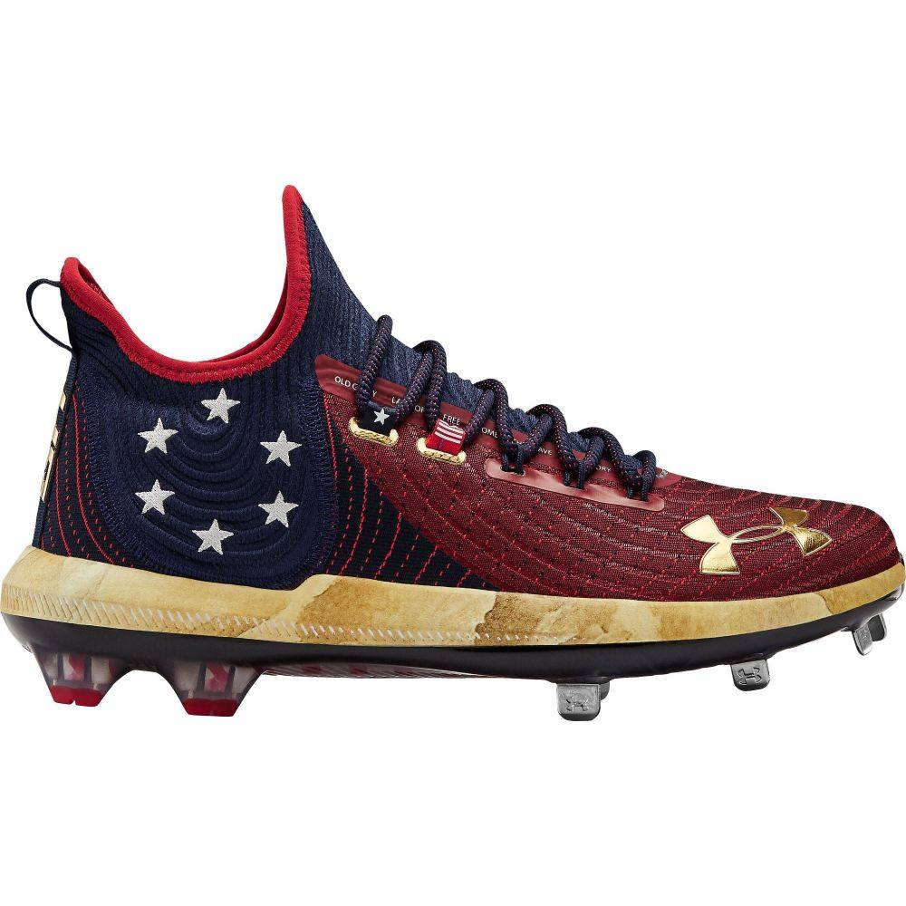 アンダーアーマー Under Armour メンズ 野球 シューズ・靴【Harper 4 Metal Baseball Cleats】Red/Navy