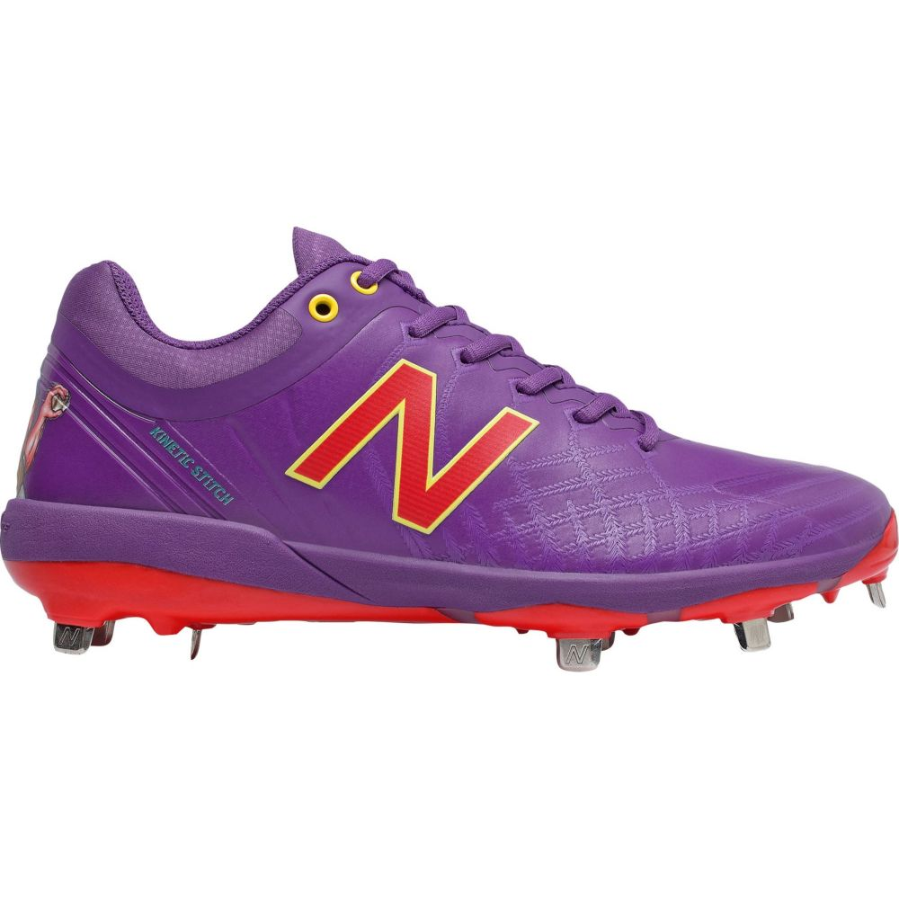 ニューバランス New Balance メンズ 野球 シューズ・靴【4040 v5 Big League Chew Metal Baseball Cleats】Purple/Red