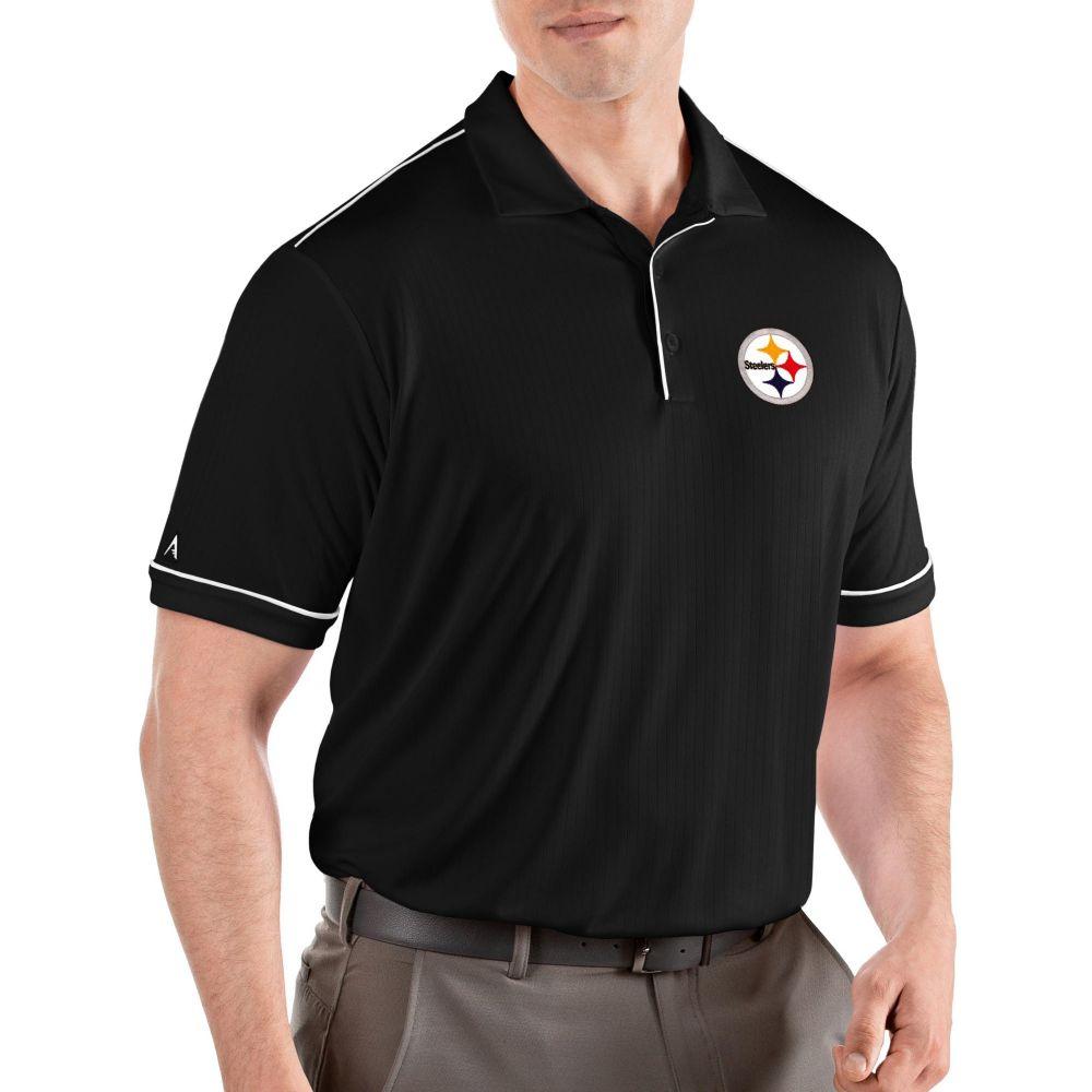 アンティグア Antigua メンズ ポロシャツ トップス【Pittsburgh Steelers Salute Black Polo】