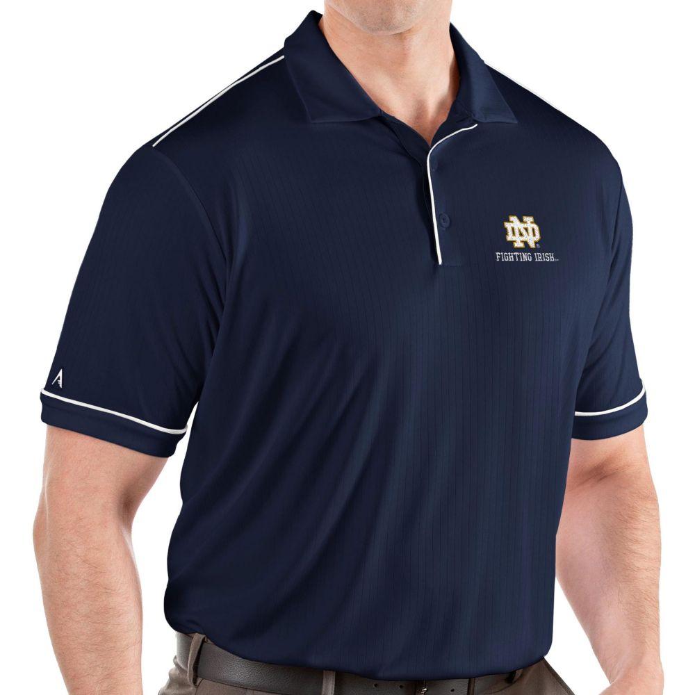 アンティグア Antigua メンズ ポロシャツ トップス【Notre Dame Fighting Irish Navy Salute Performance Polo】