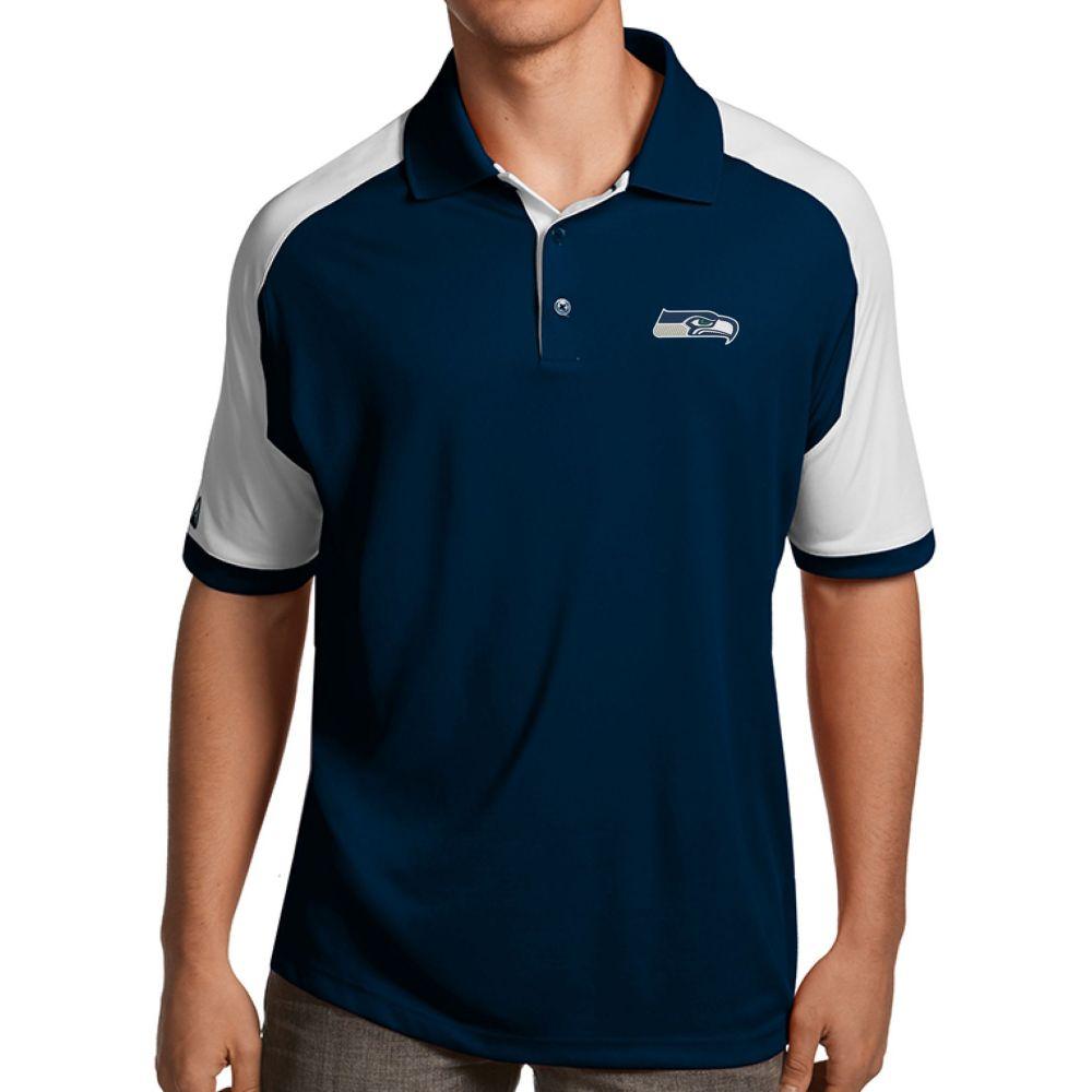 アンティグア Antigua メンズ ポロシャツ トップス【Seattle Seahawks Century Navy Polo】