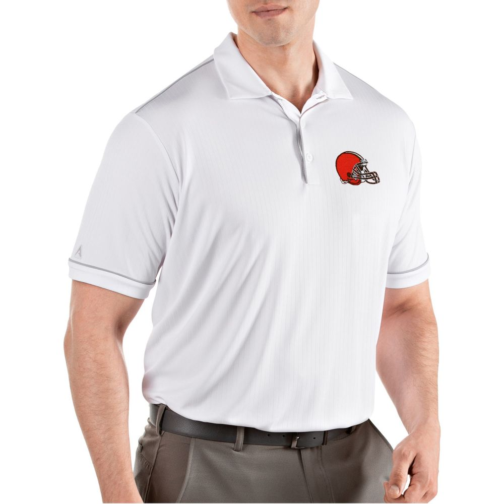 アンティグア Antigua メンズ ポロシャツ トップス【Cleveland Browns Salute White Polo】