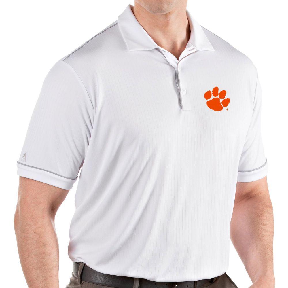 アンティグア Antigua メンズ ポロシャツ トップス【Clemson Tigers Salute Performance White Polo】