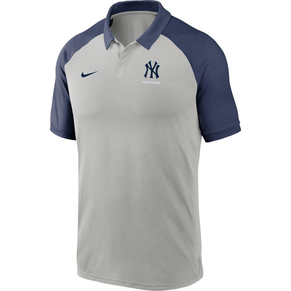 ナイキ Nike メンズ ポロシャツ トップス【New York Yankees Grey Dri-FIT Legacy Raglan Polo】