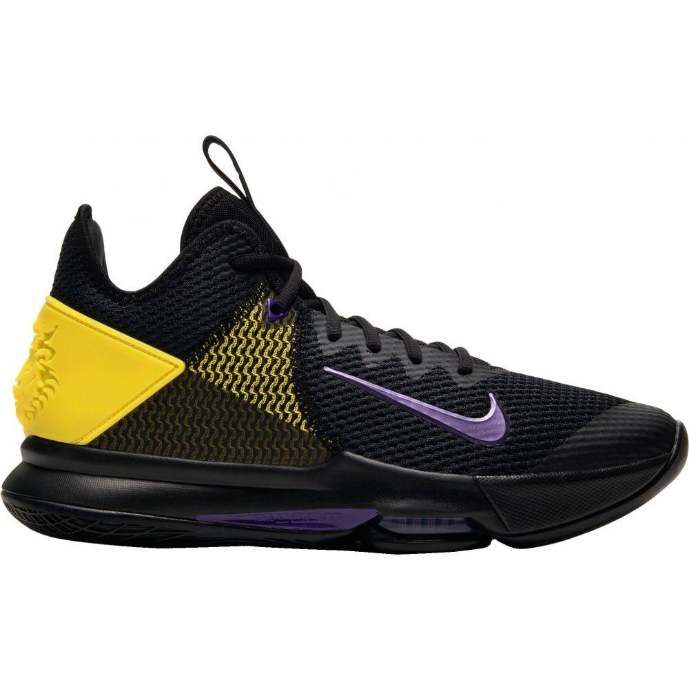 ナイキ Nike メンズ バスケットボール シューズ・靴【LeBron Witness 4 Basketball Shoes】Black/Purple/Yellow
