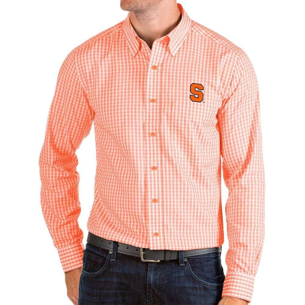 アンティグア Antigua メンズ シャツ トップス【Syracuse Orange Orange Structure Button Down Long Sleeve Shirt】